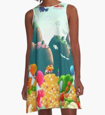 Yoshi's Island A-Line Dress