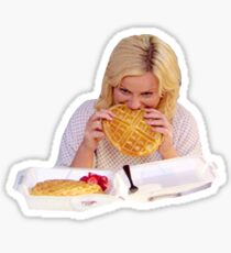 Leslie Knope Waffles Parks and Recreation Sticker