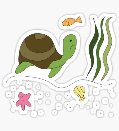 Sad Turtle Sticker