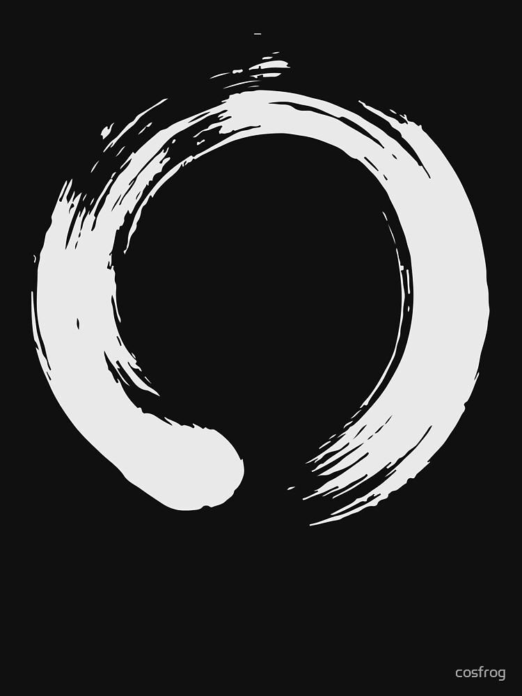 Enso Zen Buddhism Artistic Brush Stroke Unisex T Shirt By Cosfrog