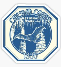 Vintage 1930 Carlsbad Caverns National Park Travel Decal Sticker