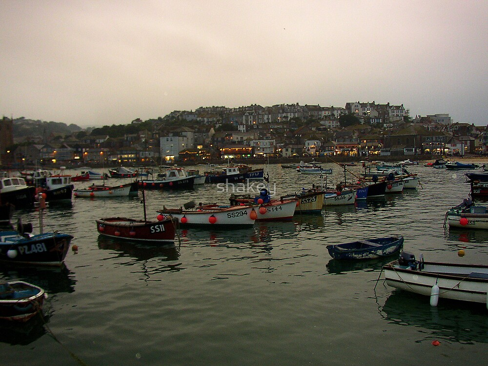 St Ives on a rainy day by shakey