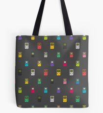Gameboy, pocket, color pattern (black) Tote Bag