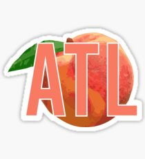 atl peach Sticker