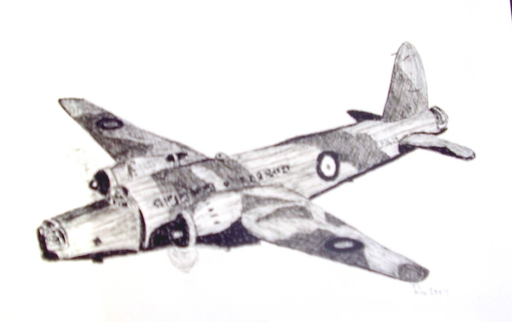 WELLINGTON BOMBER FOR DRAWING DAY by GEORGE SANDERSON