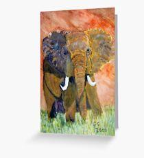 ELEPHANT CHARGING Greeting Card