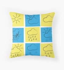 Weather sticks Throw Pillow
