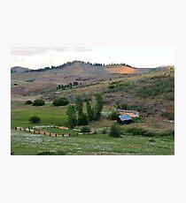 Farm in Eastern Oregon Photographic Print