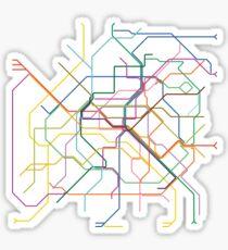 Pegatina Metro de París
