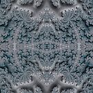 Frosty Garden of Queen Anne's Lace Fractal Abstract by Artist4God