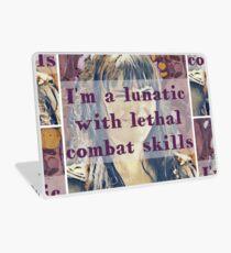 Lunatic with Combat Skills Laptop Skin
