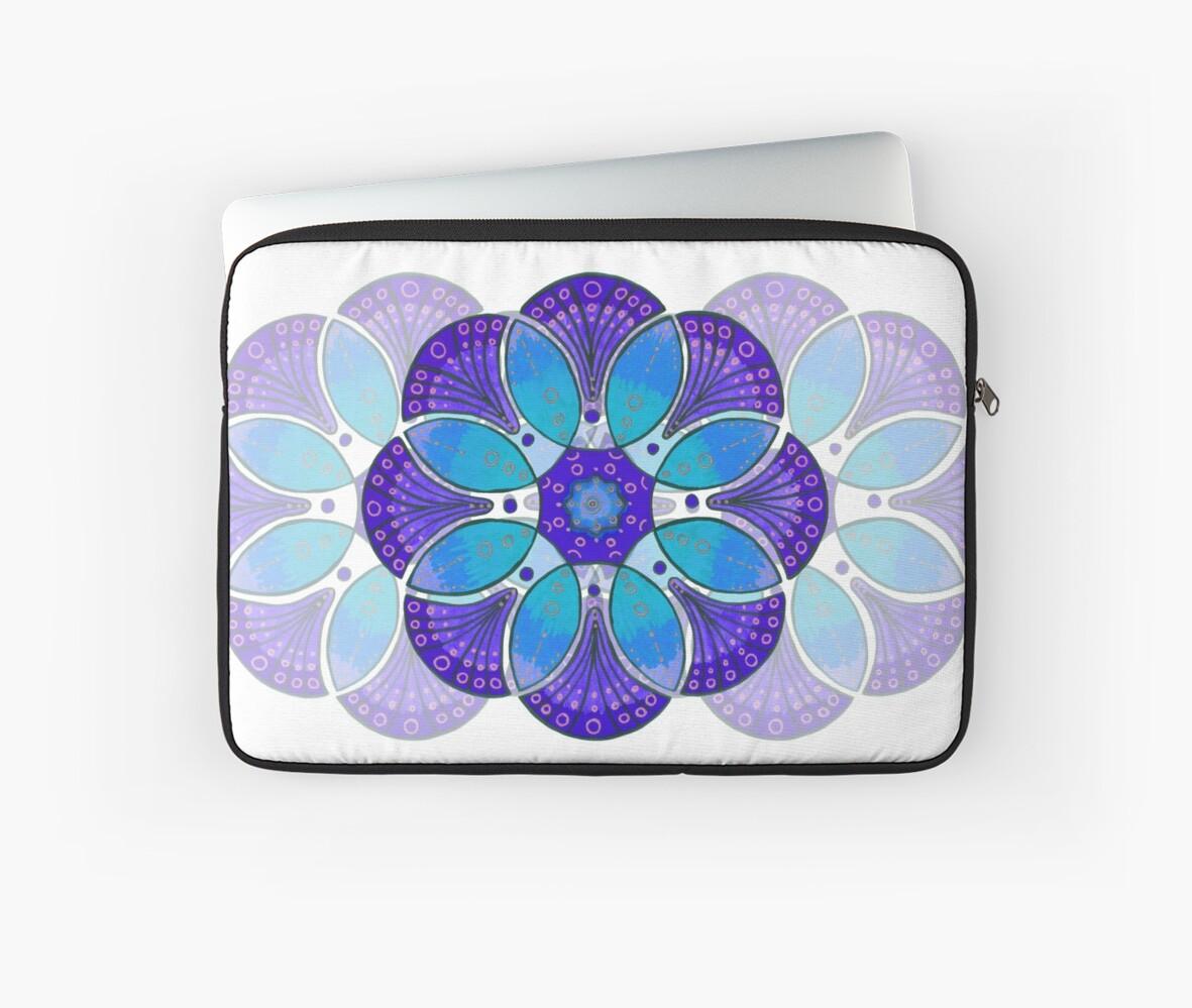 Blue flower mandala by Cynthia Haller