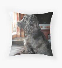 Guarding the House Throw Pillow