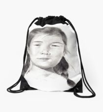 Young Mother Drawstring Bag