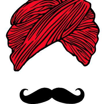 Turban Mustache  by gujjuevolution