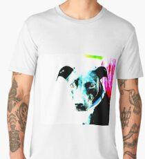 Blue Contrast Dog Men's Premium T-Shirt