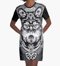 wolf Graphic T-Shirt Dress