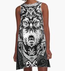 Wolf A-Linien Kleid