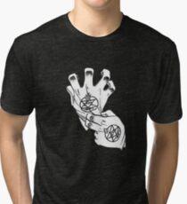 Fullmetal Alchemist - Roy Mustang Gloves Tri-blend T-Shirt