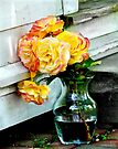 Beautiful vase full of yellow roses by Beth Brightman
