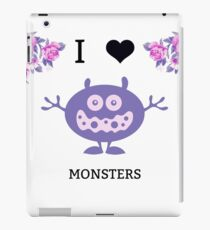 I Love Monsters Series- Two iPad Case/Skin