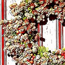 Fall Wreath in Pinks and Greens by Beth Brightman