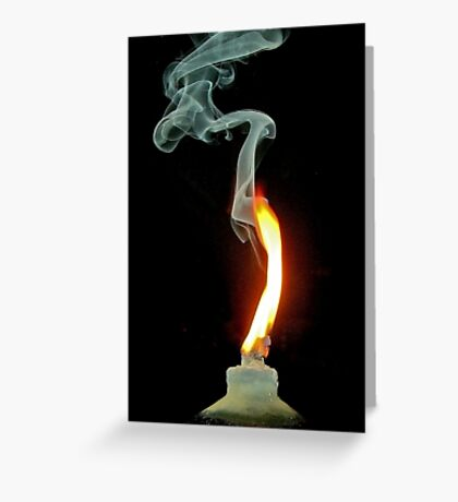 Fire in the Dark Greeting Card