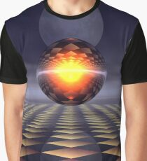 Sphere and Moon Graphic T-Shirt