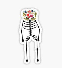 floral skeleton logo Sticker