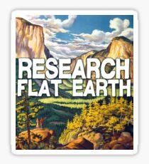 Research Flat Earth Sticker