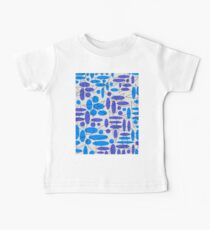 Blue and Purple Flowers Kids Clothes