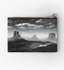 Monument Valley in Black & White  Studio Pouch
