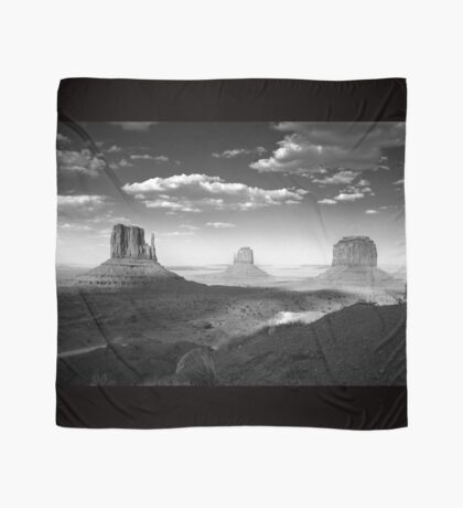 Monument Valley in Black & White  Scarf