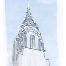 Chrysler Building Digital Illustration by elledeegee