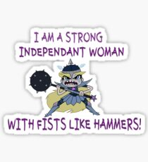 Star Butterfly is an Independent Woman Sticker
