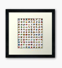 Chat Icons Framed Print