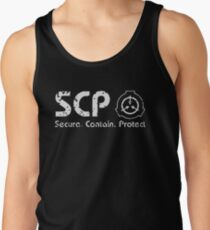 SCP - SECURE ⚫ CONTAIN ⚫ PROTECT White Tank Top