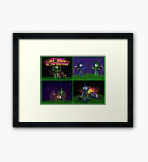 Atomic Bomberman Retro Graphic Grid Framed Print
