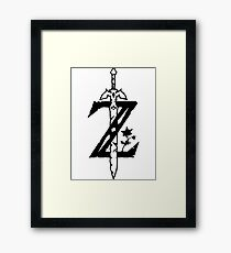 legend zelda Framed Print