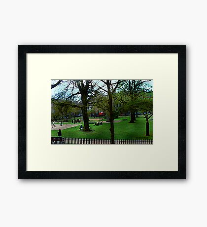 Bath City Green Framed Print
