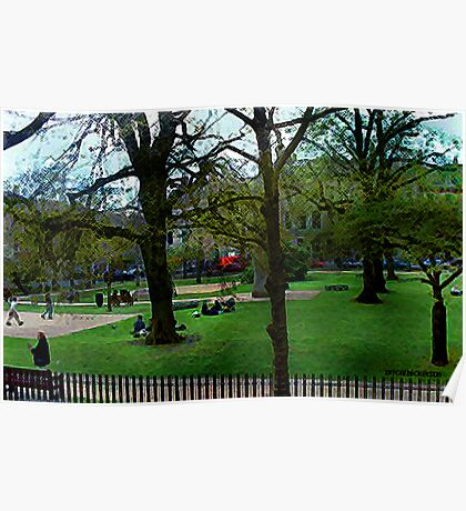 Bath City Green Poster