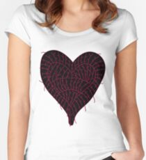 Black Ragged Heart Women's Fitted Scoop T-Shirt