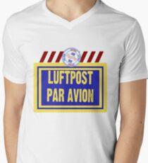 Air Mail Par Avion Series Mens V-Neck T-Shirt