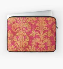 Red and Gold Damask Laptop Sleeve