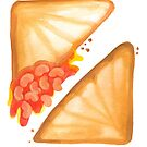 Jaffles: Baked Bean & Cheese by makemerriness