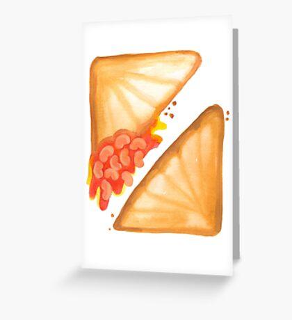 Jaffles: Baked Bean & Cheese Greeting Card