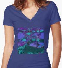 Mermaid Women's Fitted V-Neck T-Shirt