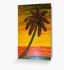 Color Palm FInger Painted MKART Greeting Card