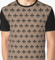 ROYAL1 BLACK MARBLE AND BROWN COLORED PENCIL Graphic T-Shirt