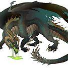 Malbetroch- DnD- Black/Copper Hybrid Dragon- Transparent by Lucieniibi